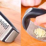 Chollo Picador de ajos de acero inoxidable