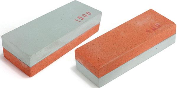 Piedra afiladora de 2 caras para cuchillos o tijeras barata