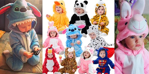 Chollo Selección de pijamas mono con forma de personajes de dibujos para bebé