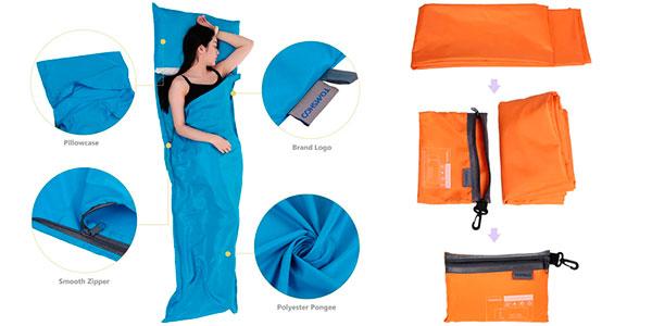 Chollo Saco de dormir plegable con funda para almohada