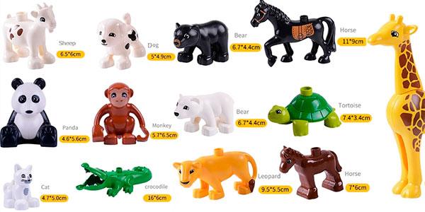 Figuras animales compatibles con DUPLO en varios tamaños baratas
