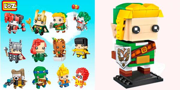 Chollo Selección de personajes cabezones Brick Headz de tipo LEGO