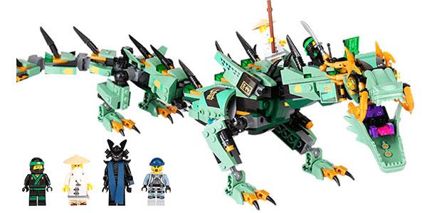 Chollo Set Dragón mecánico + 4 figuras estilo LEGO