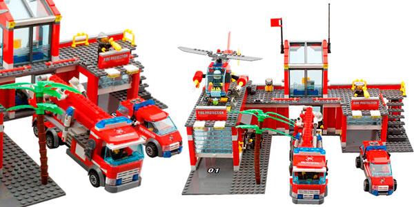 Chollo Estación de bomberos tipo LEGO
