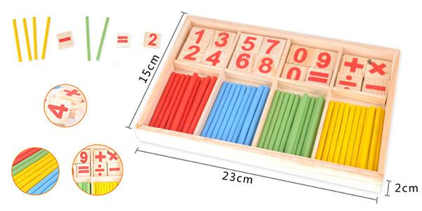 Chollo Set de madera de aprendizaje de matemáticas Montessori