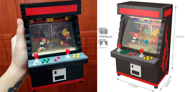 Chollo Máquina recreativa Street Fighter II de tipo LEGO