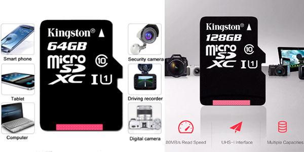Tarjeta de memoria microSD Kingston de 64 GB y 128 GB al mejor precio