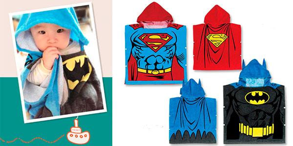 Chollo Toalla con capucha de Batman o Superman para bebés