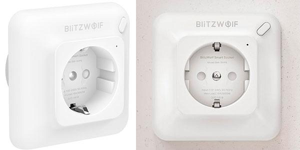 Chollo Toma de corriente BlitzWolf BW-SHP8 Wi-Fi compatible con Alexa y Google Assistant