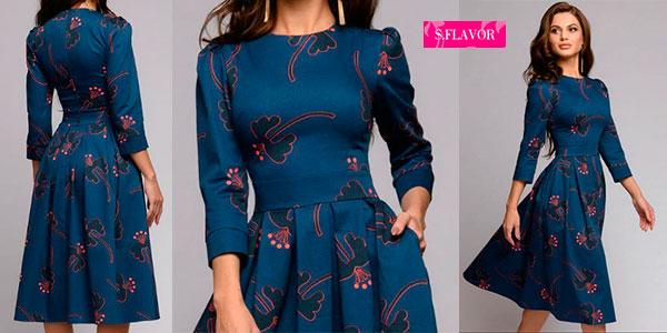 Chollo Vestido de estilo vintage con manga 3/4 para mujer