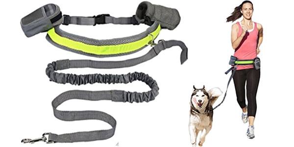 "Cinturón acolchado Lkeep con correa para perro ""manos libres"" barato en AliExpress"