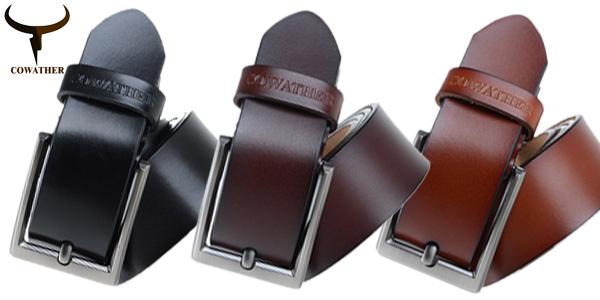 Cinturón de cuero genuino Cowather para hombre