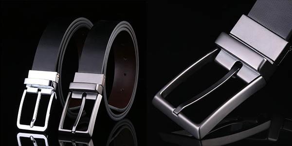 Cinturón reversible de piel barato
