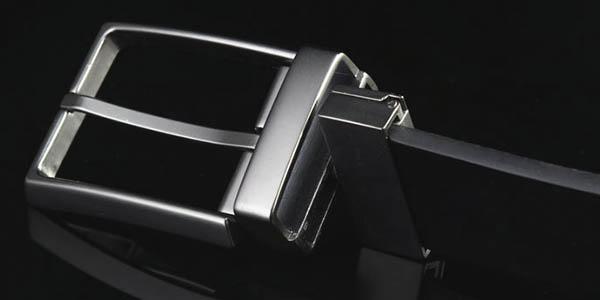 Cinturón cuero genuino reversible
