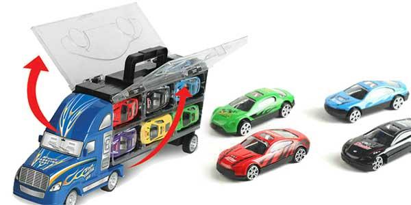 Camión de juguete con 12 coches chollo en AliExpress