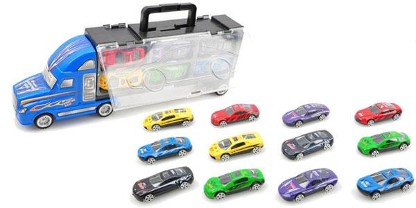 Camión de juguete con 12 coches barato en AliExpress