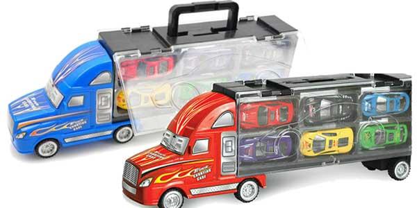 Camión de juguete con 12 coches chollazo en AliExpress