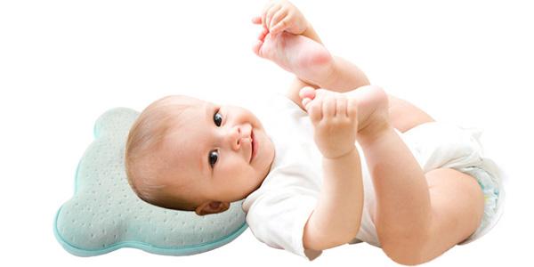 Comprar Cojín ergonómico transpirable de espuma viscoelástica para bebé barato en Aliexpress