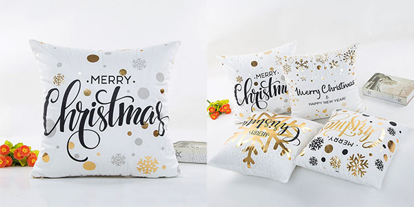 Fundas de cojines con motivos navideños en AliExpress