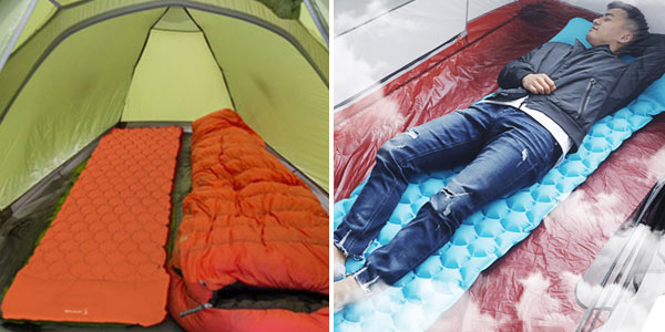 Colchoneta hinchable para acampada chollazo en AliExpress
