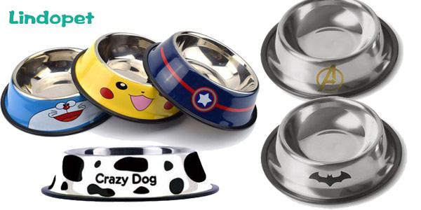 Comederos de acero inoxidable para mascotas baratos en AliExpress