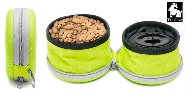 Comedero-bebedero plegable para mascotas barato