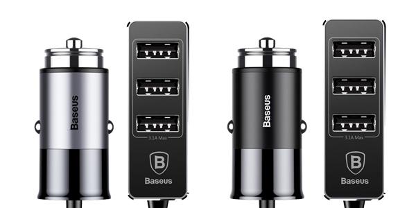 Cargador USB múltiple de coche para asientos delanteros y traseros barato en Zapals