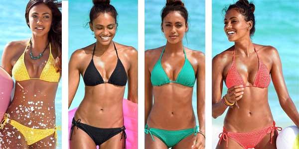Bikini tipo brasileño de tejido crochet con top push-up barato