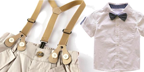 Conjunto de pantalón y camisa para bebé chollo en AliExpress
