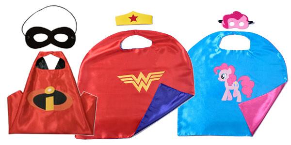 Conjunto de capa y antifaz de superhéroes para niñ@s chollazo en Amazon