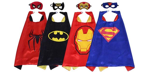 Conjunto de capa y antifaz de superhéroes para niñ@s barato en Amazon