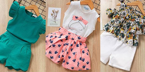 Conjunto de ropa en varios modelos para niña barato