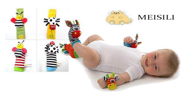 Pack de calcetines y muñequeras con sonajero para bebé