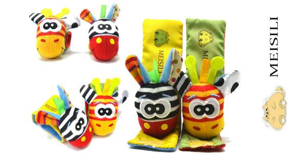Pack de calcetines y muñequeras con sonajero para bebé barato