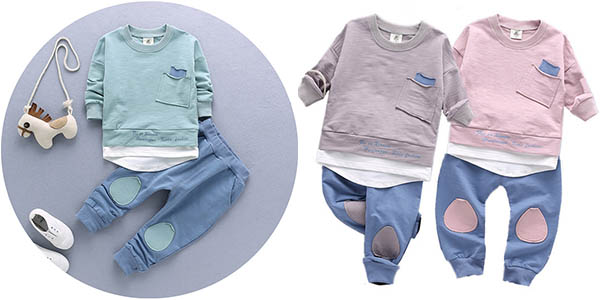 Conjunto sudadera y pantalón para niños