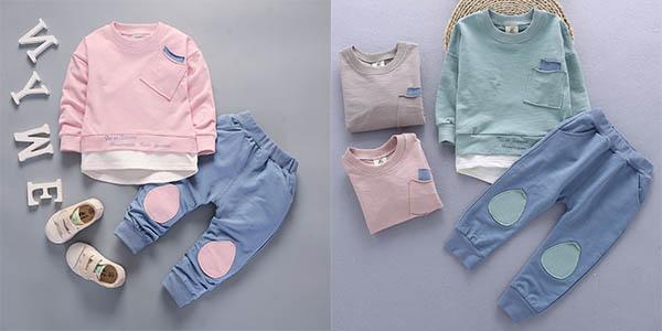 Conjunto sudadera y pantalón de algodón en varios colores