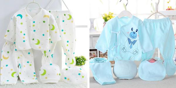 Pack de 5 piezas de ropa para recién nacido Bekamille barato en AliExpress