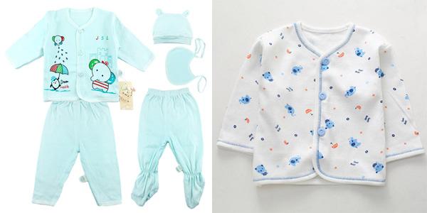 Pack de 5 piezas de ropa para recién nacido Bekamille chollo en AliExpress