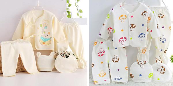 Pack de 5 piezas de ropa para recién nacido Bekamille chollazo en AliExpress