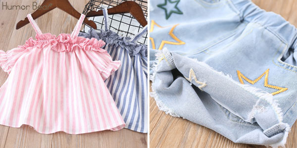 Conjunto de ropa veraniega para niña chollazo en AliExpress