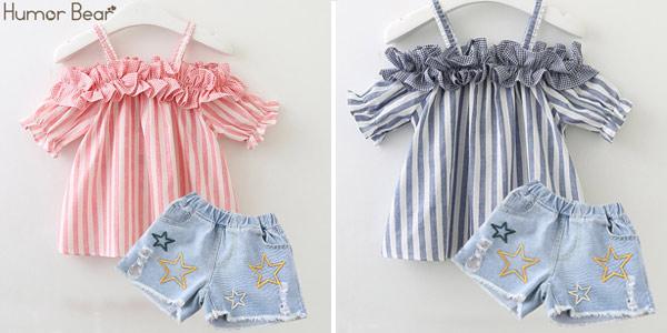 Conjunto de ropa veraniega para niña barato en AliExpress