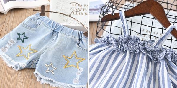 Conjunto de ropa veraniega para niña chollo en AliExpress