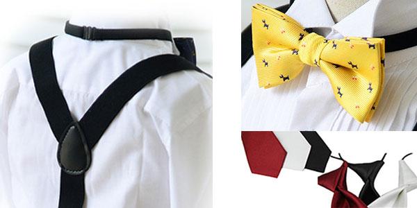 Conjunto de tirantes, pajarita y corbata infantiles chollo en AliExpress