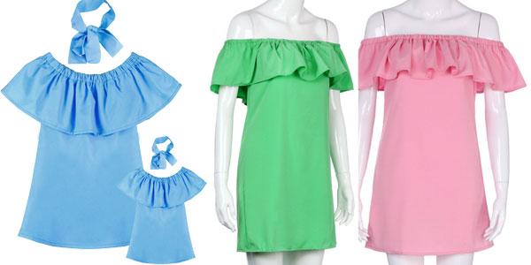 Conjunto Vestido a juego para madre e hija chollo en Aliexpress