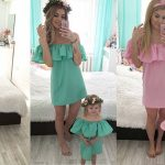 Conjunto Vestido a juego para madre e hija barato en Aliexpress