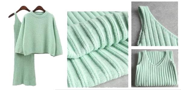Conjunto jersey y vestido de tirantes chollo en AliExpress