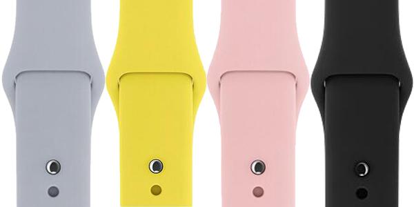 Correas deportivas de silicona compatibles con Apple Watch 38mm y 42mm baratas