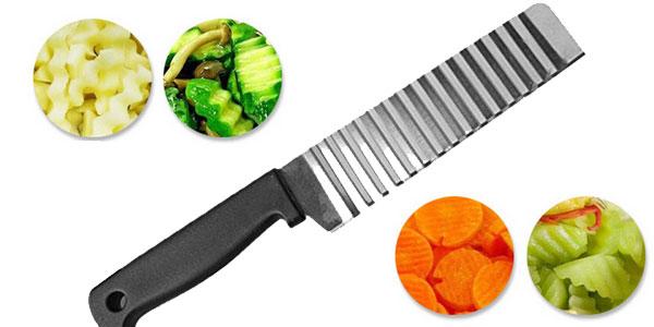 Cuchillo de hoja ondulada para cortar fruta o verdura barato en AliExpress