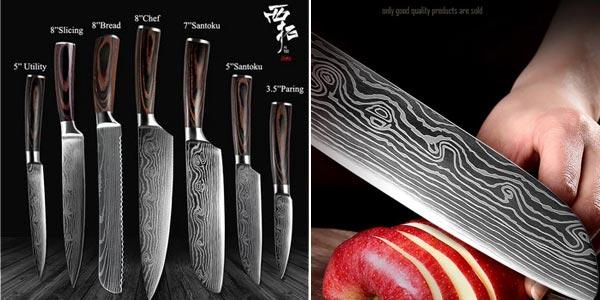 Cuchillos de cocina XITUO chollo en AliExpress