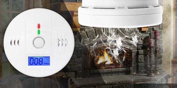 Detector de monóxido de carbono con alarma chollo en AliExpress